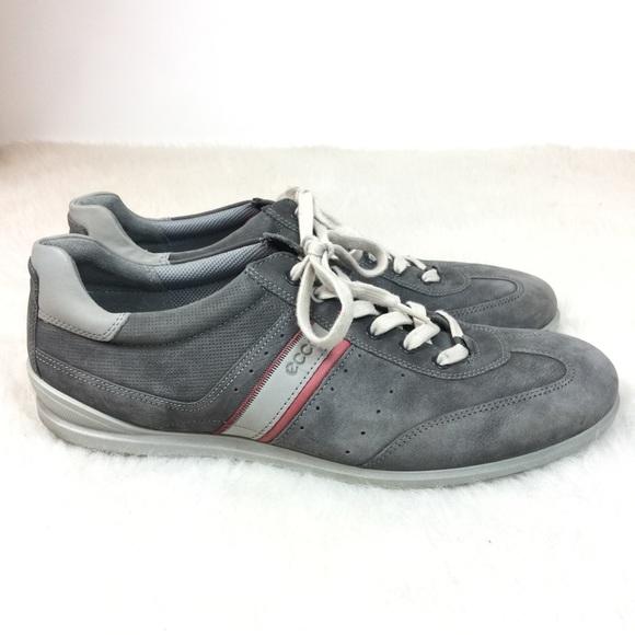 Ecco Mens Chander Retro Sneaker Gray